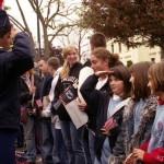 Kida at the Veterans Day parade