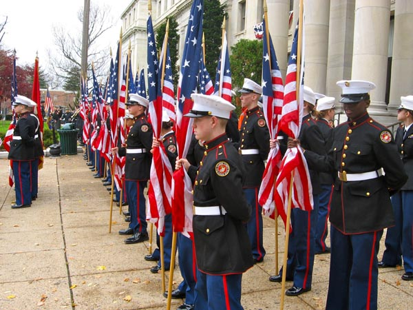 Marines and Flags