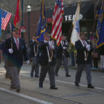 American Legion post marching